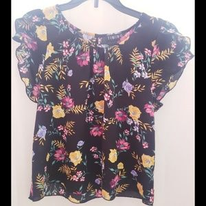 TIMING Floral Blouse Small